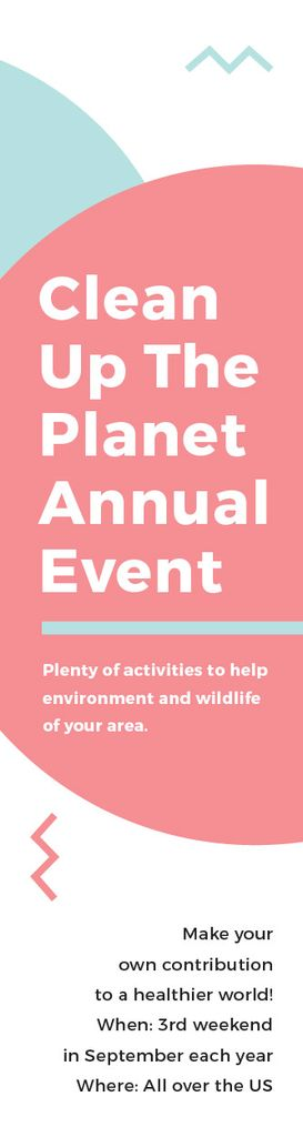 Template di design Ecological Event Announcement Simple Circles Frame Skyscraper