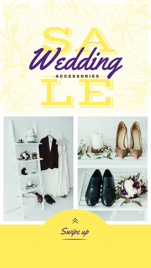 Template di design Sale Offer Stylish Set of Wedding Outfits Instagram Story