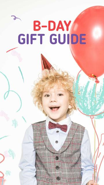 Birthday Boy with Balloons Instagram Story – шаблон для дизайну