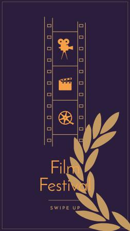Ontwerpsjabloon van Instagram Story van Film Festival announcement