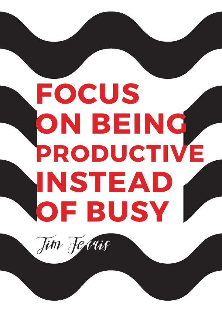 Productivity Quote on Waves in Black and White — Maak een ontwerp