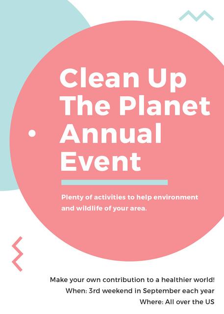 Ecological Event Simple Circles Frame Invitation Modelo de Design