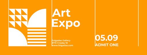 Art Expo Announcement On Orange Tickets