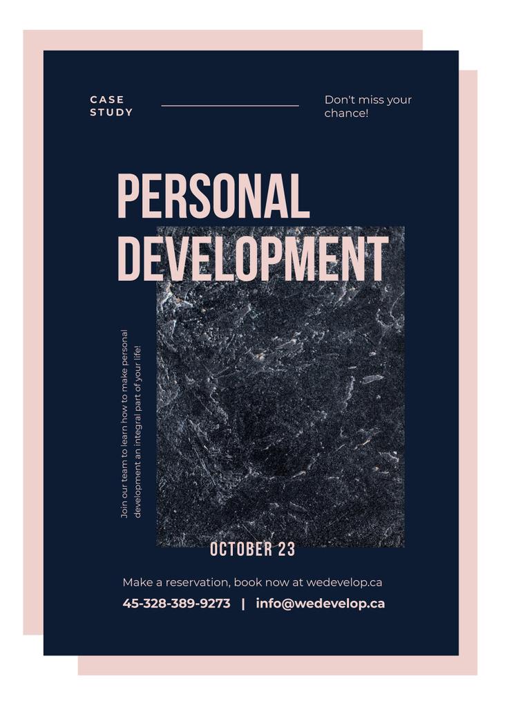 Business event announce on Marble dark texture — Créer un visuel