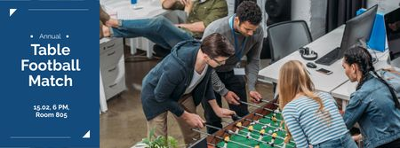 Plantilla de diseño de Annual table football match Facebook cover