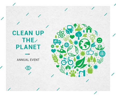 Plantilla de diseño de Clean up the Planet Annual event Medium Rectangle