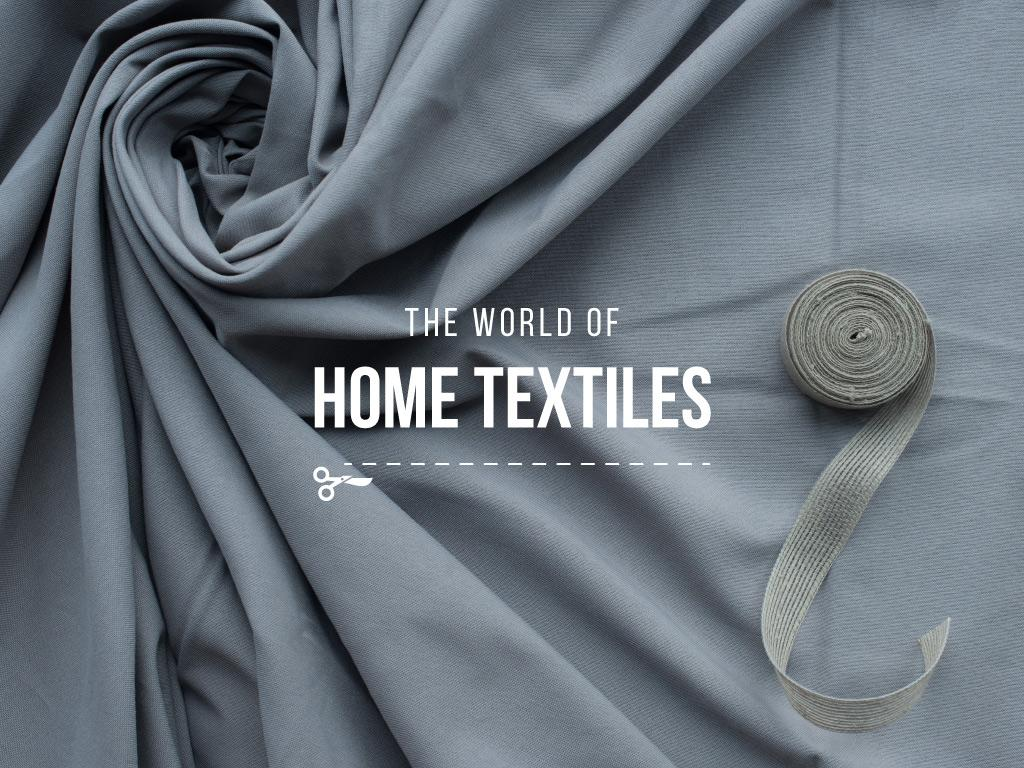 The world of home textiles — Créer un visuel