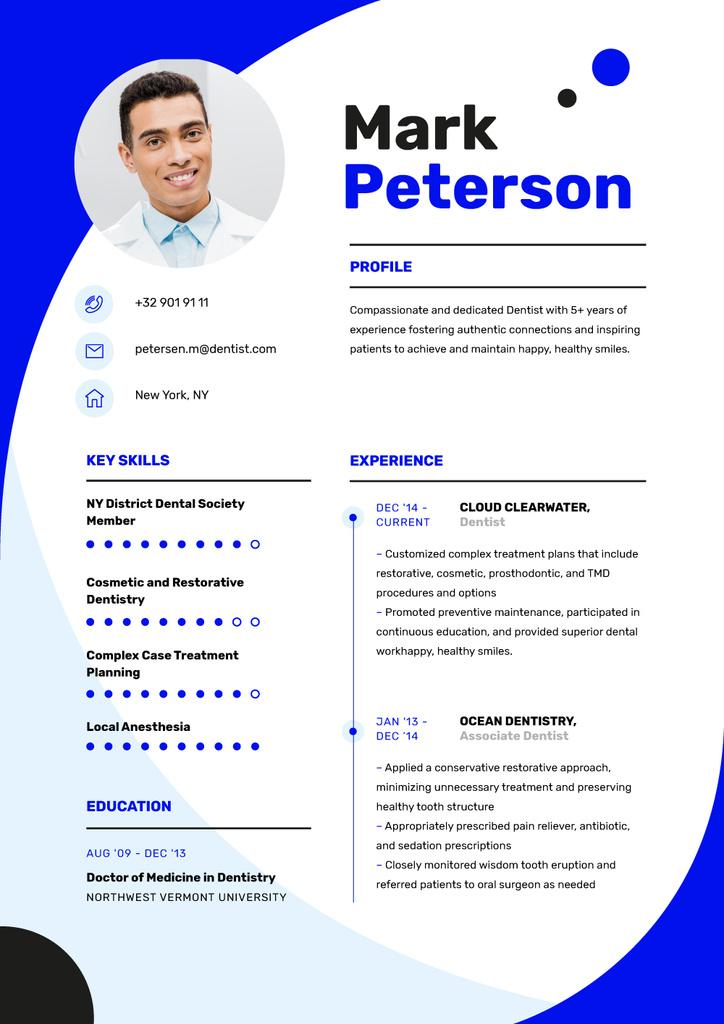 Medical skills and experience — Создать дизайн