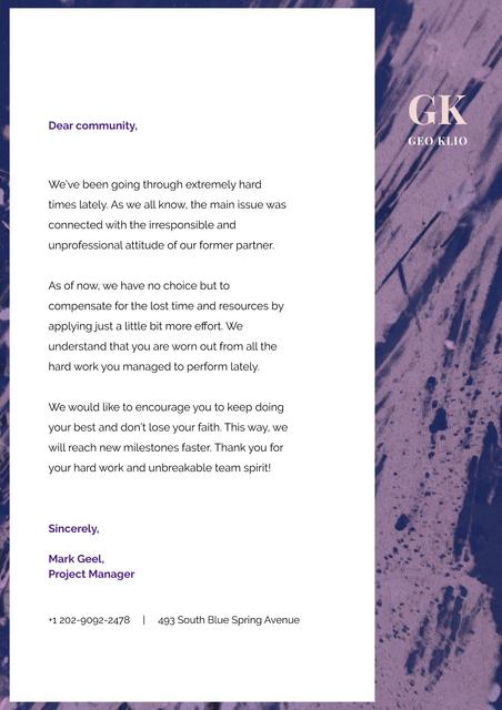Business Community inspiration Letterhead Design Template