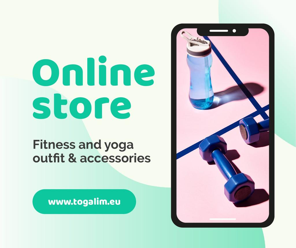 Online Store Ad with Fitness and Yoga accessories — Crear un diseño