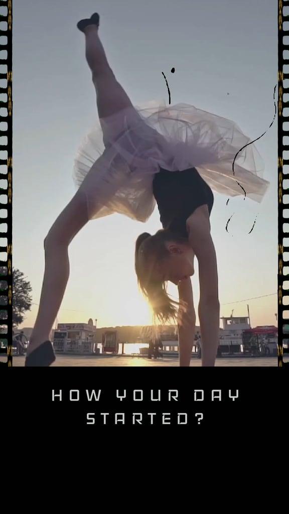 Ballerina dancing on city view — Создать дизайн