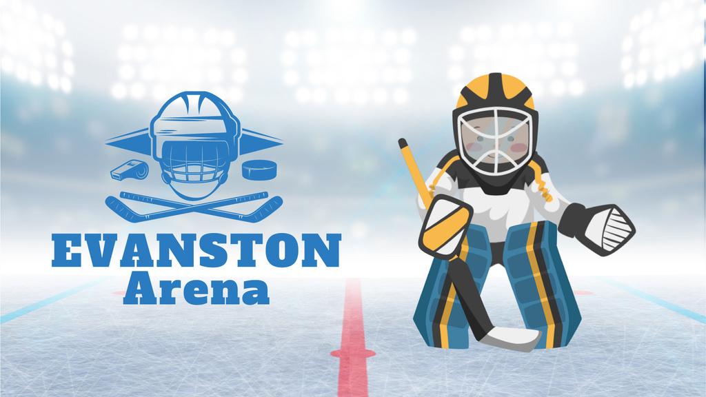 Hockey Match Player Catching Puck | Full Hd Video Template — Crear un diseño