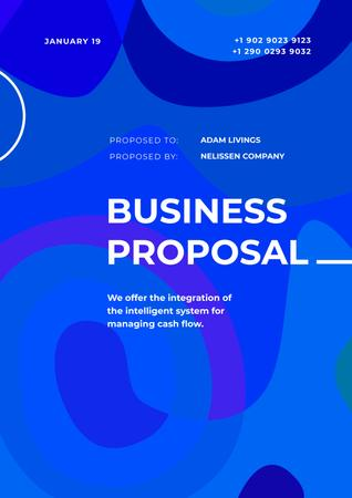 Ontwerpsjabloon van Proposal van Business payment software managing offer