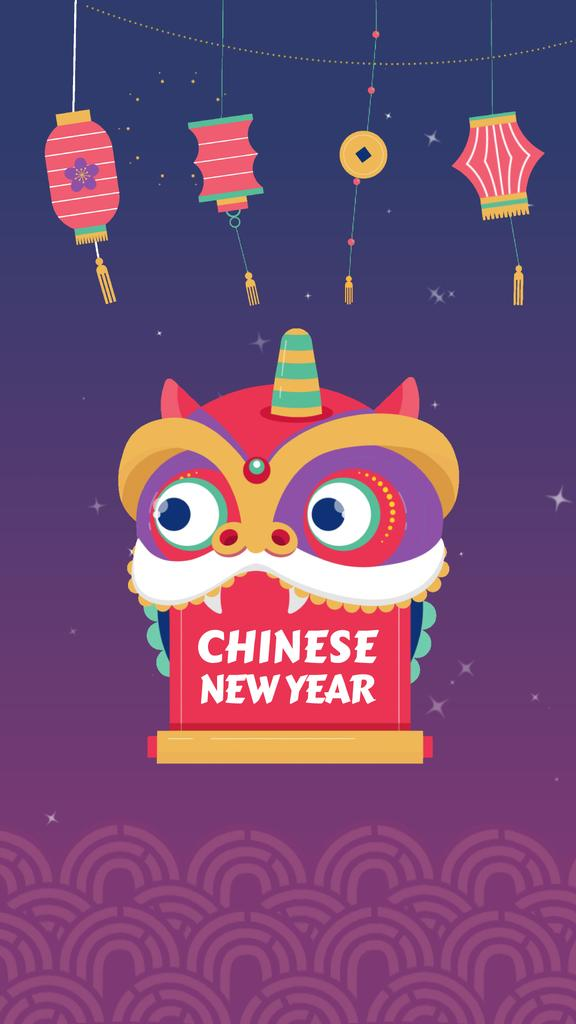 Chinese New Year Dragon Greeting | Vertical Video Template — Create a Design