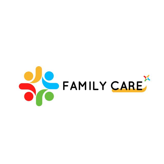 Plantilla de diseño de Family Care Concept with People in Circle Logo