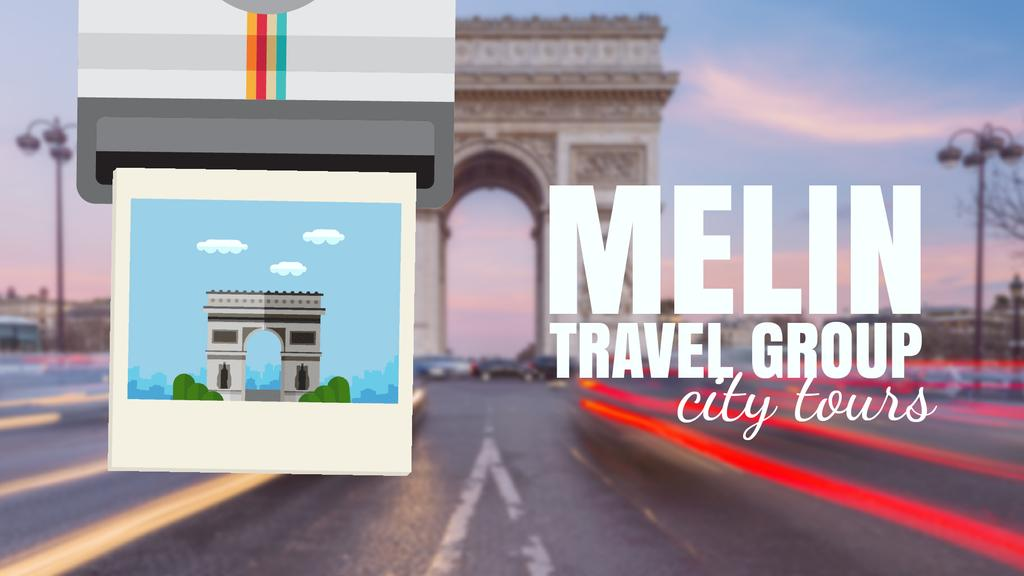 Paris Arc De Triomphe Famous Travelling Spot | Full Hd Video Template — Crea un design