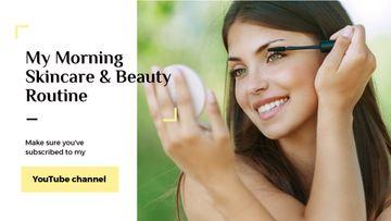 Beauty Blog Ad Woman applying Mascara