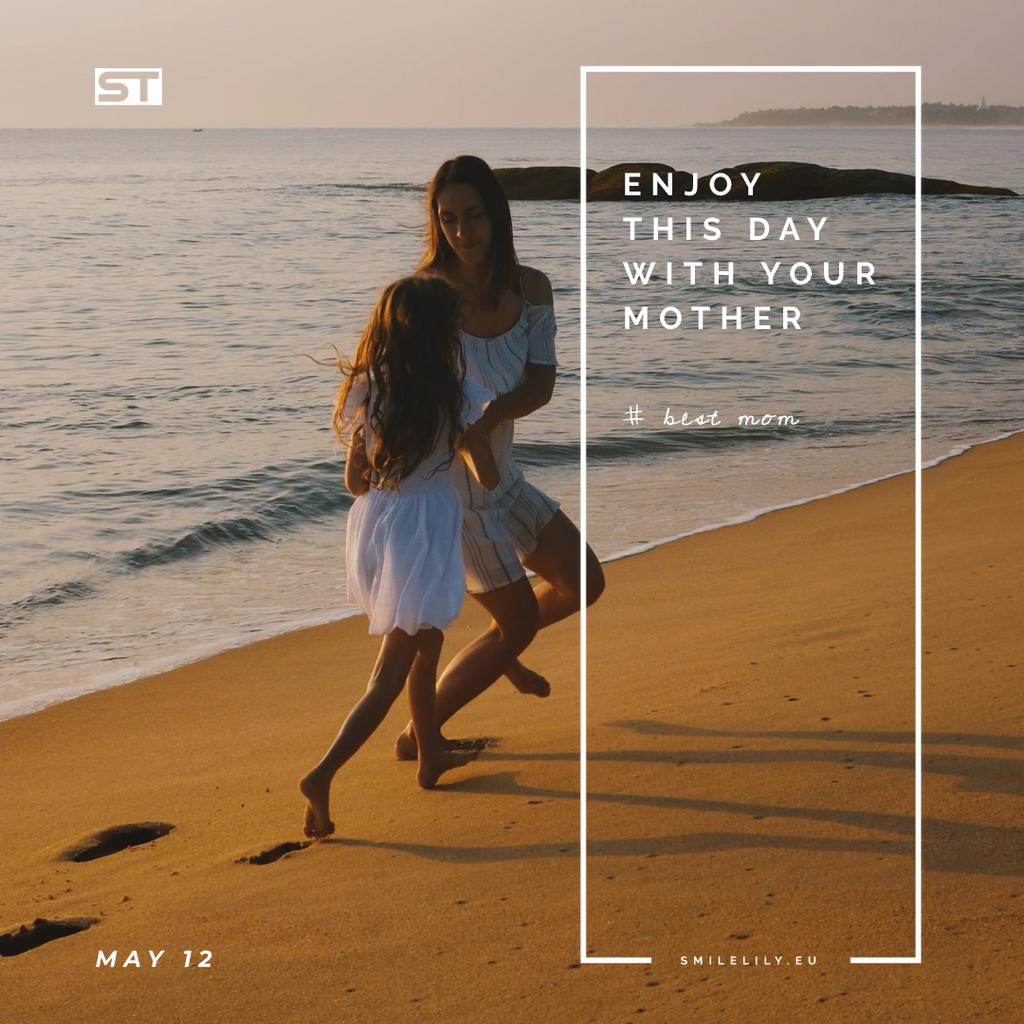 Mother and daughter by the sea — Create a Design