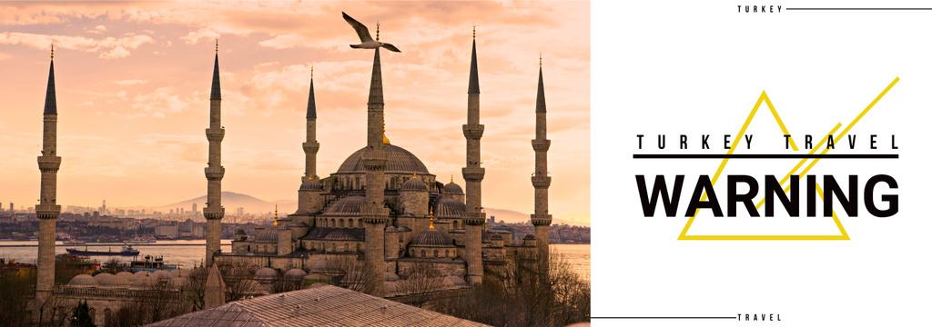 Tour Invitation with Turkey Famous Travelling Spot | Tumblr Banner Template — Créer un visuel