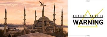Tour Invitation with Turkey Famous Travelling Spot | Tumblr Banner Template