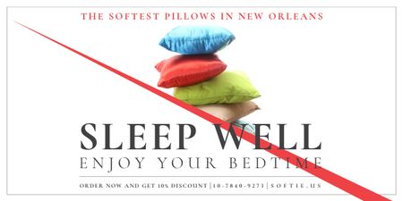 The softest pillows in New Orleans Image Design Template