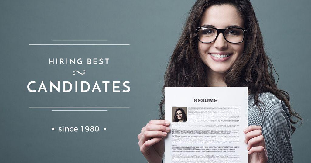 Hiring best candidates poster — Create a Design