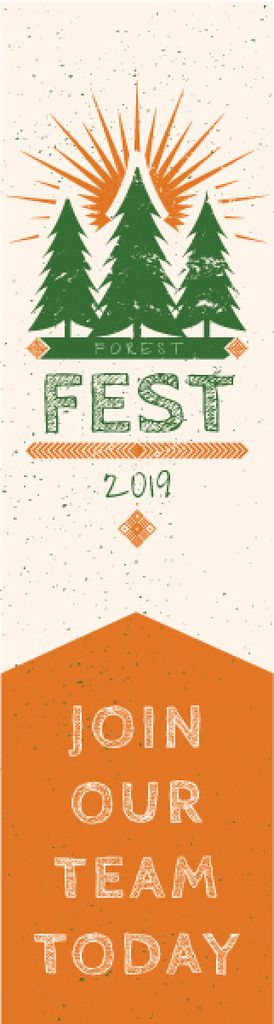 Forest fest banner — Создать дизайн