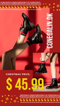 Christmas Sale Woman in Ankle Boots | Stories Template