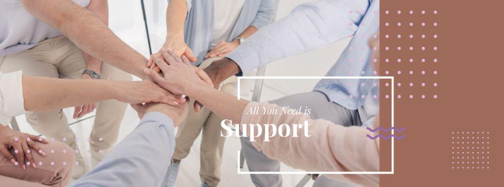 Teamwork Quote with People Stacking Hands — Maak een ontwerp