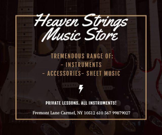 Modèle de visuel Heaven Strings Music Store - Large Rectangle