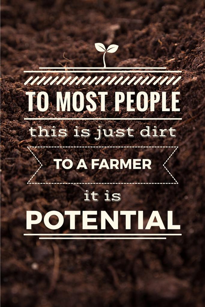 Agricultural poster with quotation — Создать дизайн
