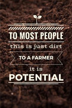 Agricultural poster with quotation