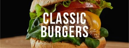 Modèle de visuel Fast Food Offer with Tasty Burger - Facebook cover