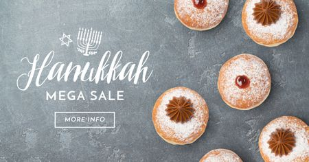 Template di design Happy Hanukkah greeting Facebook AD