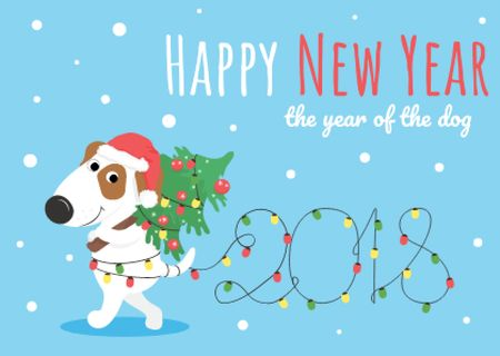 Template di design Happy New Year Greeting Card