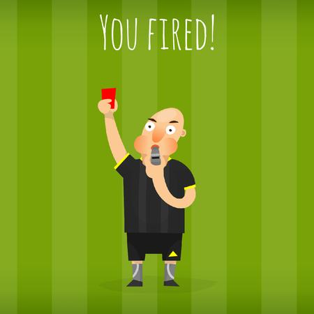 Plantilla de diseño de Referee showing red card Animated Post