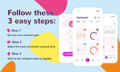 Product Hunt Promotion Fitness App with Interface on Gadgets