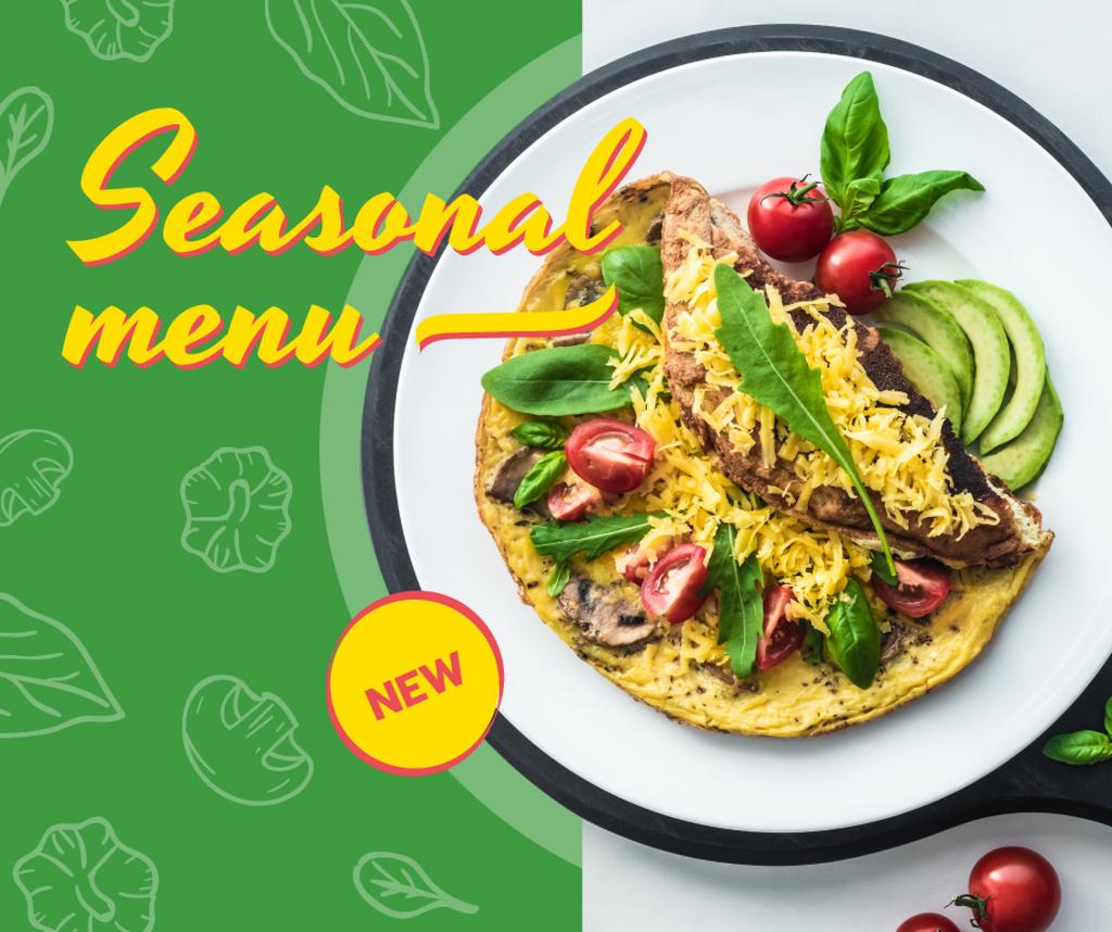 Tortilla dish with Vegetables — Créer un visuel