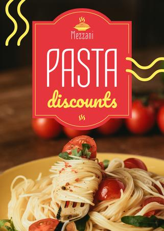Template di design Pasta Menu Promotion Tasty Italian Dish Flayer