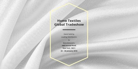 Ontwerpsjabloon van Image van Home Textiles event announcement White Silk
