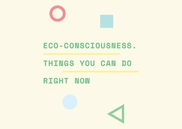 Eco-consciousness concept with simple icons