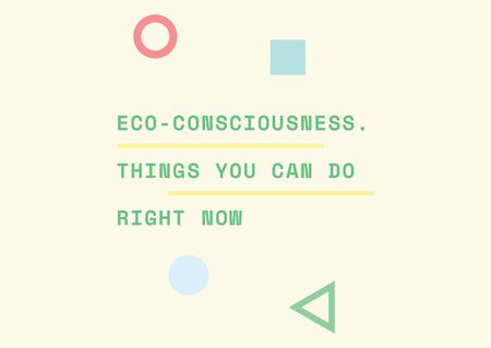 Plantilla de diseño de Eco-consciousness concept with simple icons Postcard