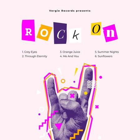 Template di design Hand showing Rock gesture Album Cover