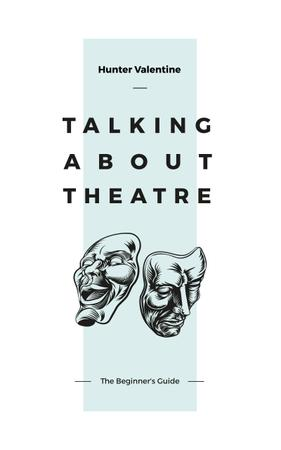 Template di design Theatrical Masks Sketches Book Cover