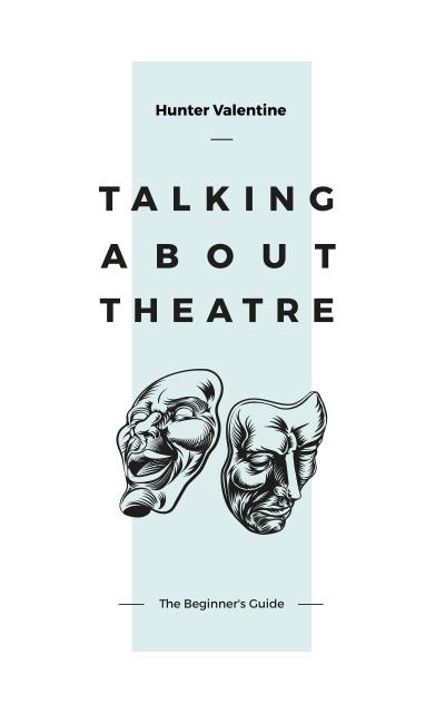 Modèle de visuel Theatrical Masks Sketches - Book Cover
