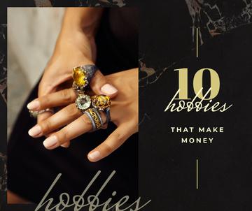 Jewelry Sale Woman wearing Rings