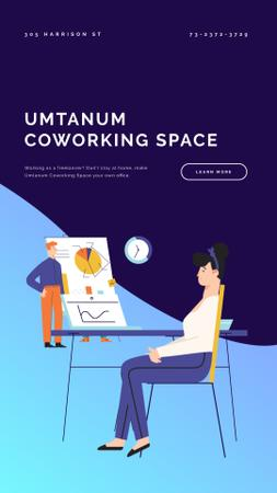 Plantilla de diseño de Creative Colleagues in Coworking Instagram Video Story