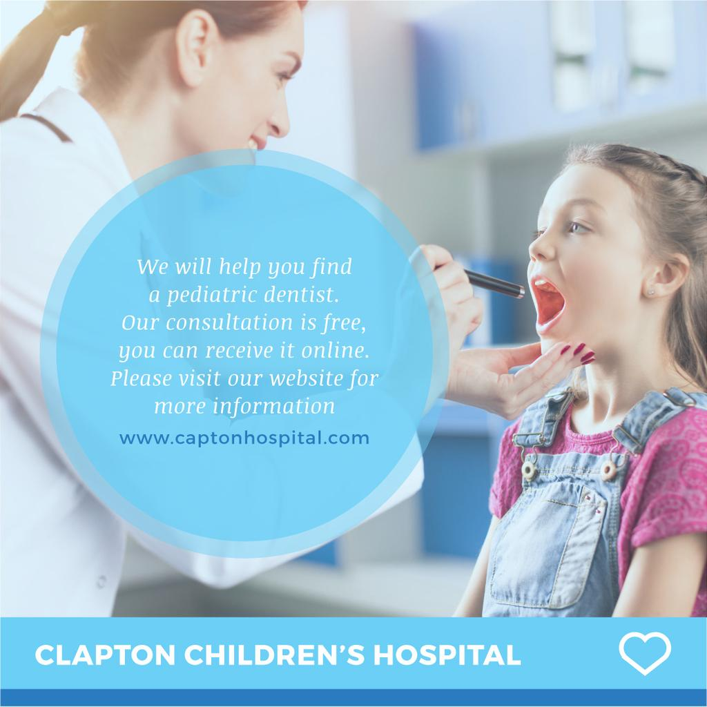 Children's hospital advertisement — Створити дизайн