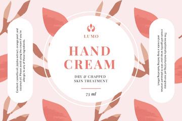 Skincare Cream ad on Flowers sketch