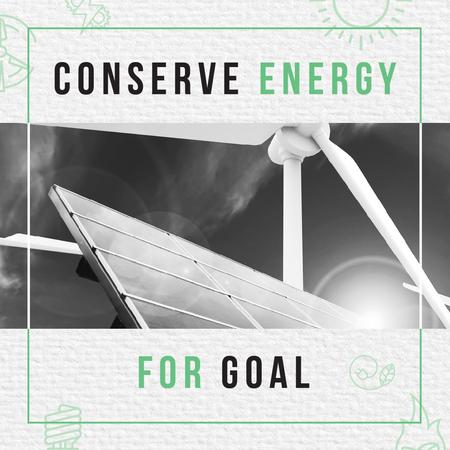 Concept of Conserve energy for goal Instagram – шаблон для дизайна